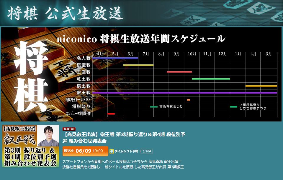 ニコニコチャンネル 将棋公式生放送